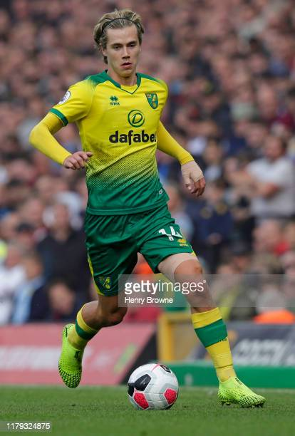 Todd Cantwell of Norwich City during the Premier League match between Norwich City and Aston Villa at Carrow Road on October 5 2019 in Norwich United...