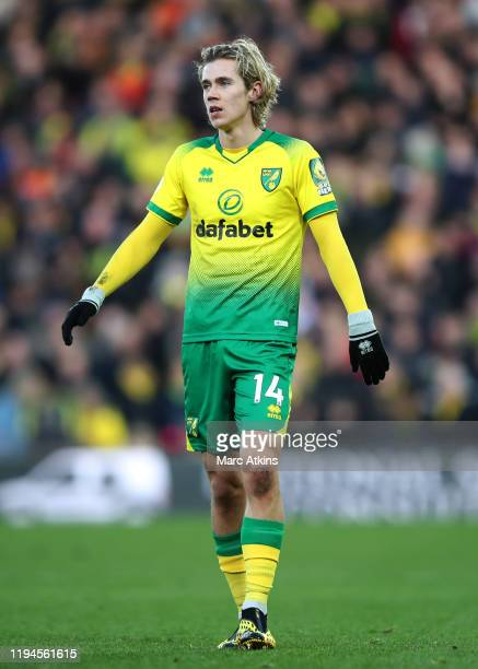 Todd Cantwell of Norwich City during the Premier League match between Norwich City and AFC Bournemouth at Carrow Road on January 18 2020 in Norwich...