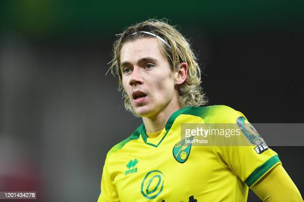 Todd Cantwell of Norwich City during the Premier League match between Norwich City and Liverpool at Carrow Road Norwich on Saturday 15th February 2020