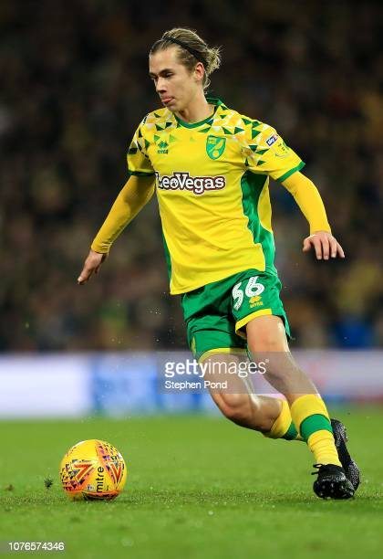 Todd Cantwell of Norwich City during the Sky Bet Championship match between Norwich City and Rotherham United at Carrow Road on December 01 2018 in...