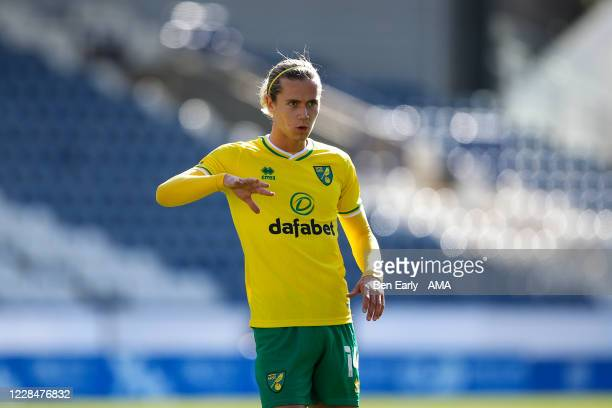 Todd Cantwell of Norwich City during the Sky Bet Championship match between Huddersfield Town and Norwich City at John Smith's Stadium on September...