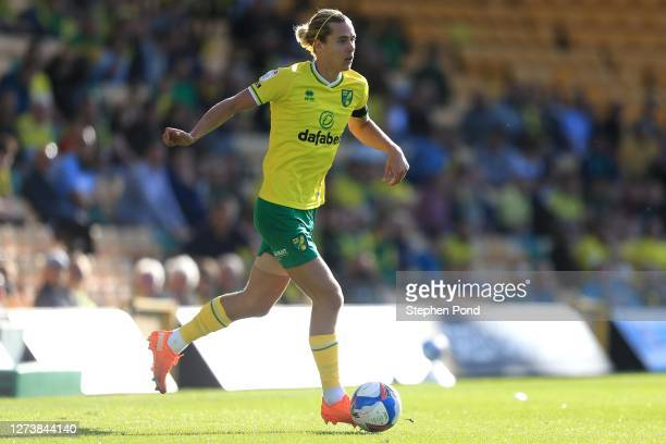 Todd Cantwell of Norwich City during the Sky Bet Championship match between Norwich City and Preston North End at Carrow Road on September 19 2020 in...