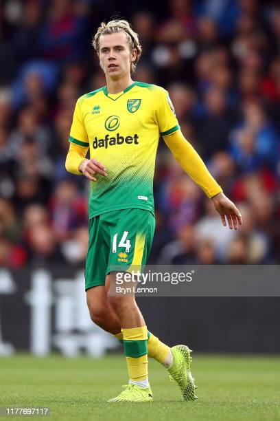 Todd Cantwell of Norwich City in action during in the Premier League match between Crystal Palace and Norwich City at Selhurst Park on September 28...