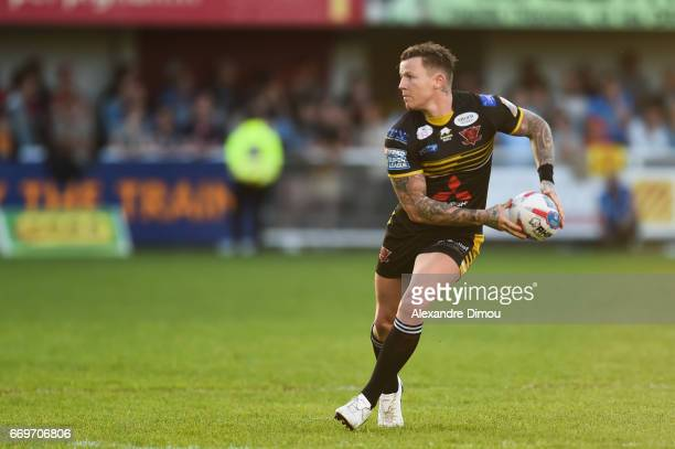 Todd Carney of Salford during the Betfred Super League match between Catalans Dragons and Salford Red Devils on April 17 2017 in Perpignan France
