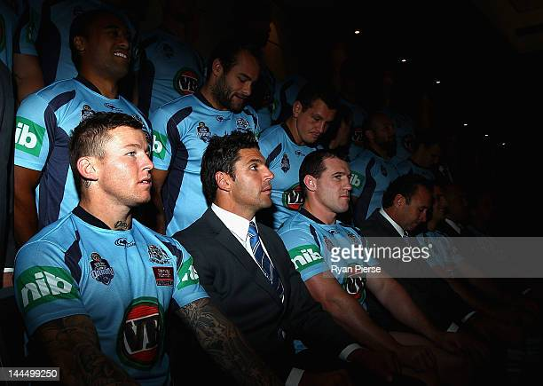 Todd Carney of the Blues looks on during the New South Wales Blues Origin team photo at Panthers on May 15 2012 in Sydney Australia