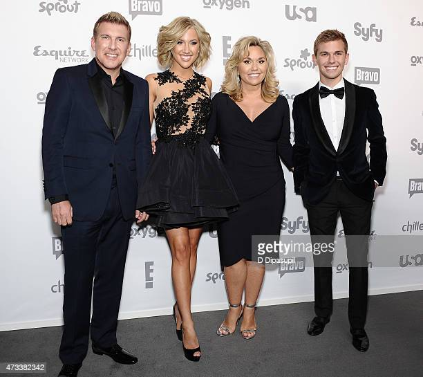Todd Chrisley Savannah Chrisley Julie Chrisley and Chase Chrisley attend the 2015 NBCUniversal Cable Entertainment Upfront at The Jacob K Javits...