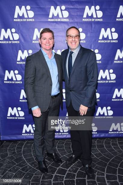 Todd Christopher and Mark Owens attend the March of Dimes Signatures Chefs Auction Los Angeles on October 11 2018 in Beverly Hills California