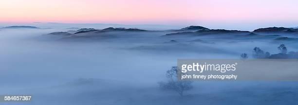 Todd Crag misty landscape, Lake District, UK