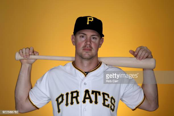 Todd Cunningham of the Pittsburgh Pirates poses for a photo during photo days at LECOM Park on February 21 2018 in Bradenton Florida