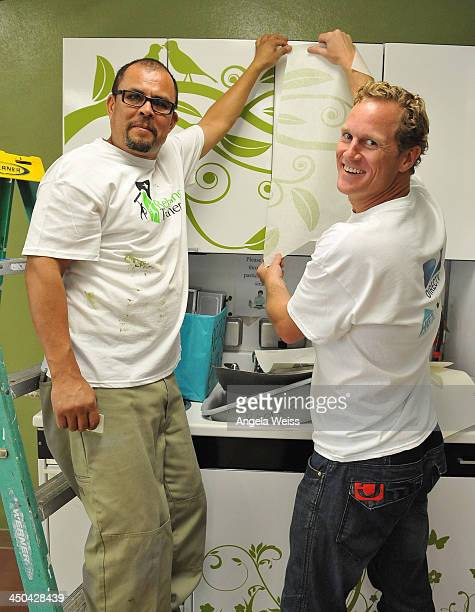 Todd Davis of HGTV together with DIRECTV HGTV DIY Network and Rebuilding Together partner to make over the teacher's lounge at Alfonso B Perez Career...