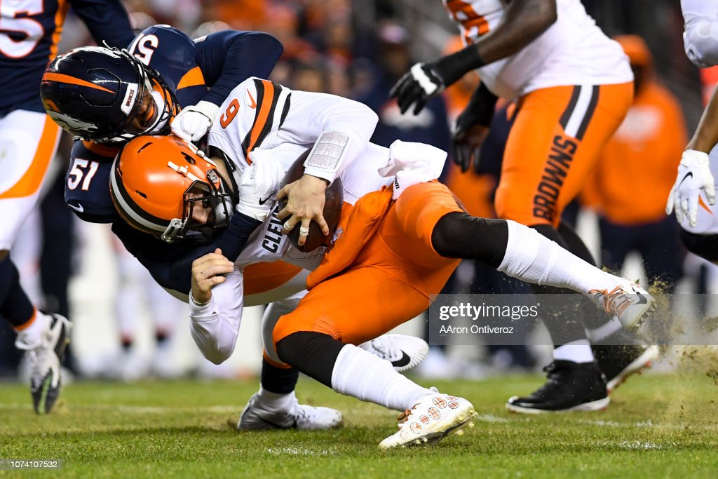 DENVER BRONCOS VS DENVER BRONCOS, NFL : News Photo