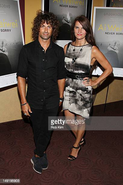 Todd DiCiurcio and Megan DiCiurcio attend the Ai Weiwei Never Sorry premiere at Chelsea Clearview Cinemas on July 24 2012 in New York City