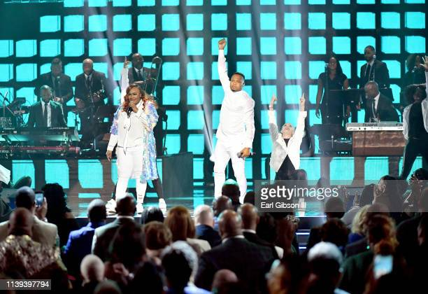 Todd Dulaney performs during the 34th annual Stellar Gospel Music Awards at the Orleans Arena on March 29 2019 in Las Vegas Nevada