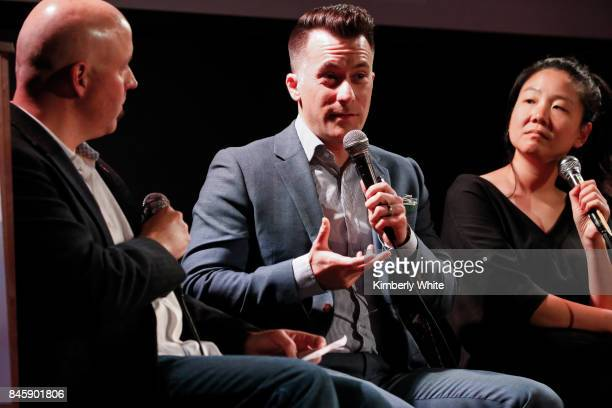 Todd Dupler Brian Hinman and Minna Choi participate in a town hall event held at The Chapel on September 11 2017 in San Francisco California hosted...