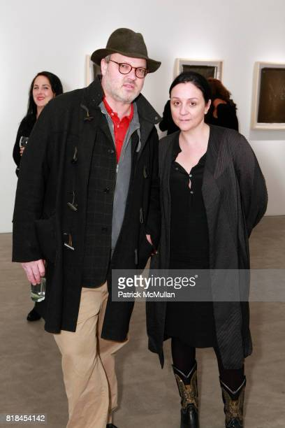 Todd Eberle and Kelly Cutrone attend Reception For PATTI SMITH And STEVEN SEBRING TONIC Board of Creators at Robert Miller Gallery on January 12 2010...