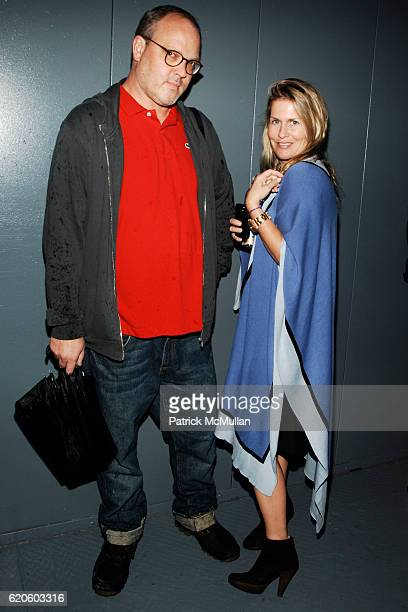 Todd Eberle and Kim Vernon attend ELISE OVERLAND Spring/Summer '09 Presentation at 435 West 19th Street on September 6 2008 in New York City