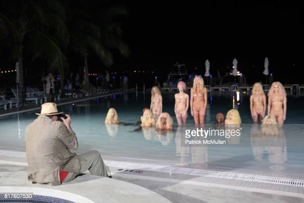 Todd Eberle and Vanessa Beecroft Installation attend Playboy presents the NUDE IS MUSE An Art Salon for Art Basel Miami 2010 at The Standard Hotel on...