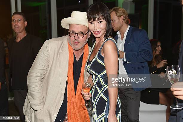 Todd Eberle and Yung Hee Kim attend the Feana Hotel Miami Beach Opening Celebration at Faena Hotel on December 1 2015 in Miami Beach Florida