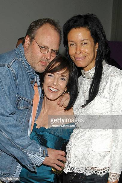 Todd Eberle Elizabeth Hayt and Kim Heirston attend I'm No Saint By Elizabeth Hayt Book Release Party at The Modern at MoMA on September 20 2005 in...
