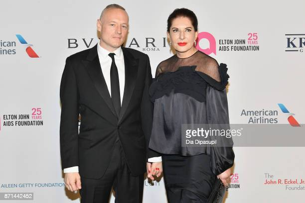 Todd Eckert and Marina Abramovic attends the Elton John AIDS Foundation 25th Year And Honors Founder Sir Elton John During New York Fall Gala at...