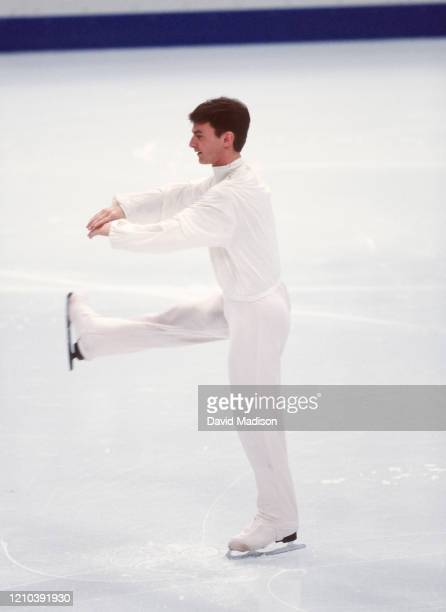 Todd Eldredge of the USA skates in the Figure Skating Exhibition of the 1998 Winter Olympics on February 21 1998 in Nagano Japan Eldredge finished...