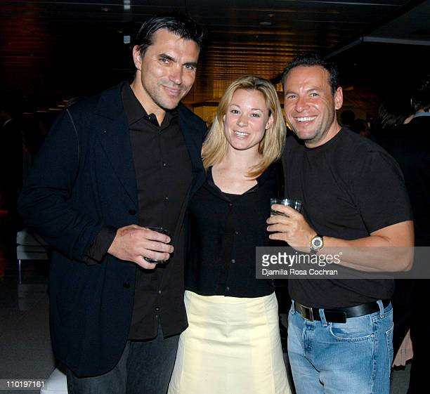 "Todd English, Laura B. And Michael Ginor during Bon Appetit's ""Chefs Night Out"" Gala at the James Beard Awards at Time Warner Center in New York..."