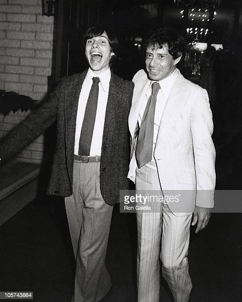 Todd Fisher and Eddie Fisher during Debbie Boone and Gabriel Ferrer Wedding Reception September 1 1979 at Wilshire Country Club in New York City New...