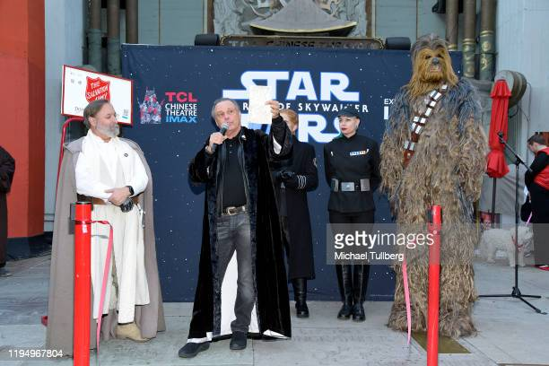 """Todd Fisher brother of the late actress Carrie Fisher, speaks at the IMAX opening of """"Star Wars: The Rise Of Skywalker"""" at TCL Chinese Theatre on..."""