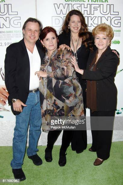 Todd Fisher Debbie Reynolds Carrie Fisher and Joely Fisher attend Special Premiere of HBO's Documentary WISHFUL DRINKING at Linwood Dunn Theatre on...