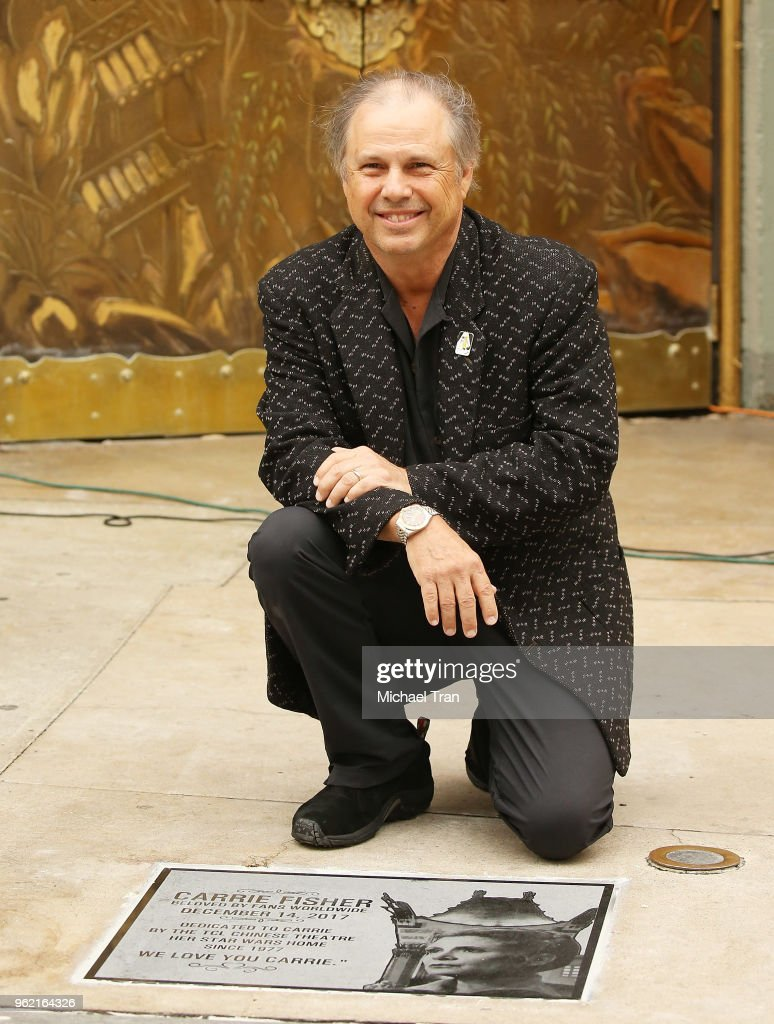 Todd Fisher Unveils Commemorative Plaque In Honor Of Carrie Fisher At TCL Chinese Theatre Forecourt