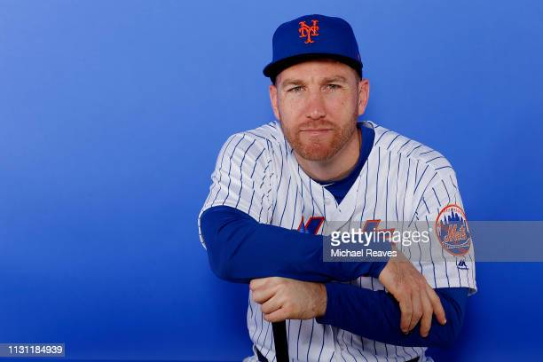 Todd Frazier of the New York Mets poses for a photo on Photo Day at First Data Field on February 21 2019 in Port St Lucie Florida