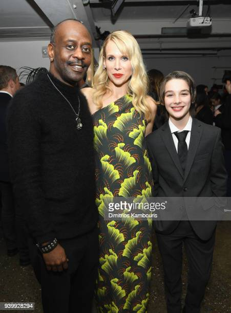 K Todd Freeman Lucy Punch and Dylan Kingwell attends the Netflix Premiere of A Series of Unfortunate Events Season 2 on March 29 2018 in New York City