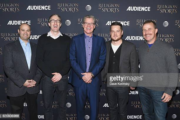 Todd Fritz Andrew Perloff Dan Patrick Patrick O'Connor and Paul Pabst attend ATT Audience Network Celebrates the Religion of Sports at St Bart's...