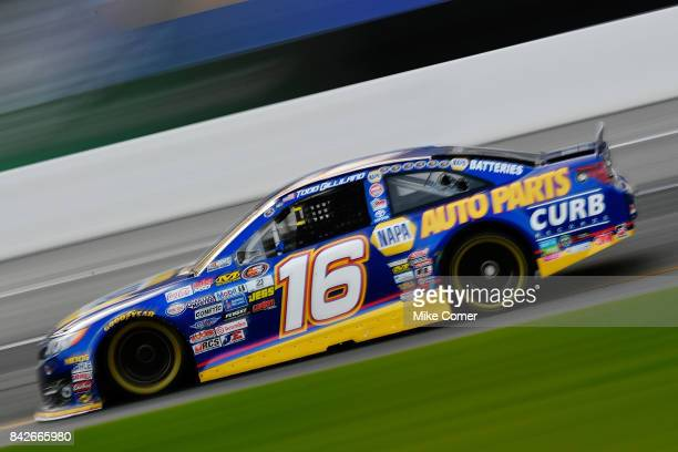Todd Gilliland driver of the NAPA Auto Parts Toyota competes during the NASCAR KN Pro Series East Visit Hampton Virginia 150 at Langley Speedway on...