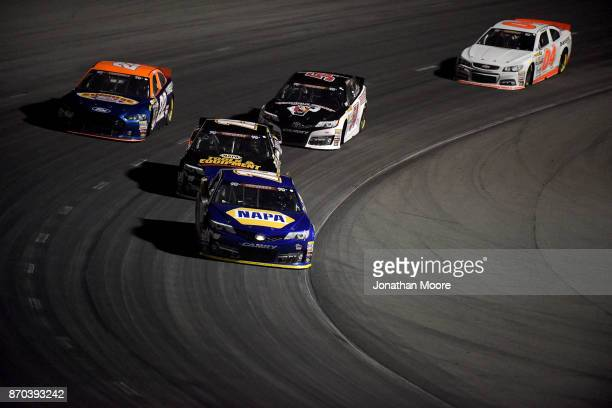 Todd Gilliland driver of the NAPA Auto Parts Toyota races on track during the NASCAR KN Pro Series West Coast Stock Car Hall of Fame Championship 150...