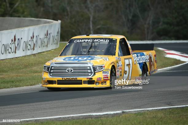 Todd Gilliland driver of the Pedigree Toyota drives at Canadian Tire Mosport Park on September 2 2017 in Bowmanville Canada
