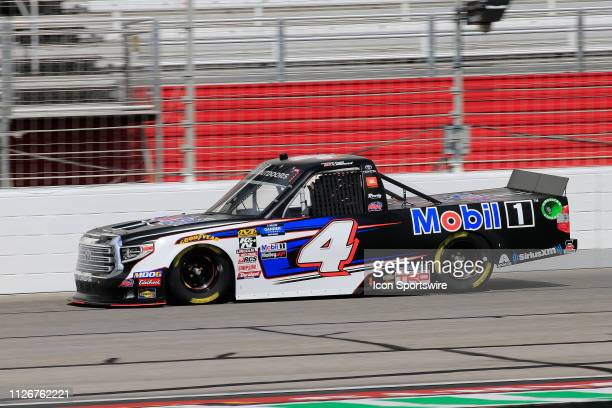 Todd Gilliland Kyle Busch Motorsports Toyota Tundra Mobil 1 during practice for the Ultimate Tailgating 200 NASCAR Gander Outdoors Truck Series race...