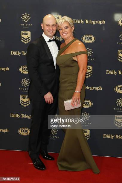 Todd Greenberg and Lisa Greenberg arrive ahead of the 2017 Dally M Awards at The Star on September 27 2017 in Sydney Australia