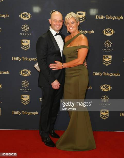 Todd Greenberg and Lisa Greenberg arrive ahead of the Dally M Awards at The Star on September 27 2017 in Sydney Australia