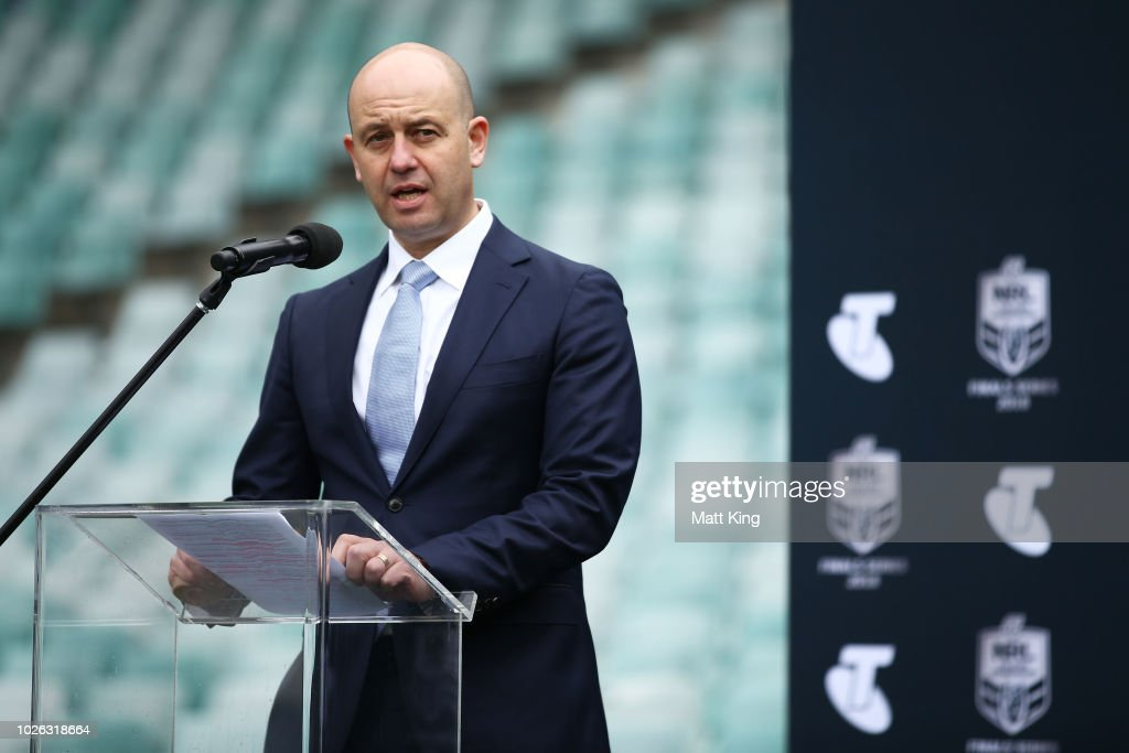 Todd Greenberg speaks during the 2018 NRL Finals Series Launch at Allianz Stadium on September 3, 2018 in Sydney, Australia.