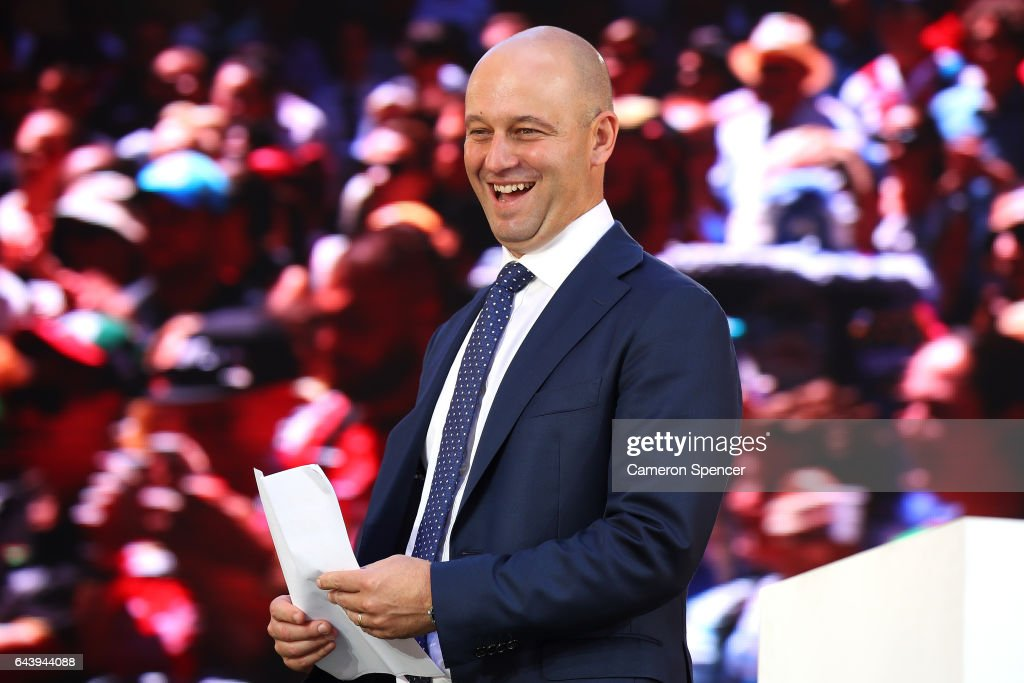Todd Greenberg walks onstage during the 2017 NRL Season Launch at Martin Place on February 23, 2017 in Sydney, Australia.