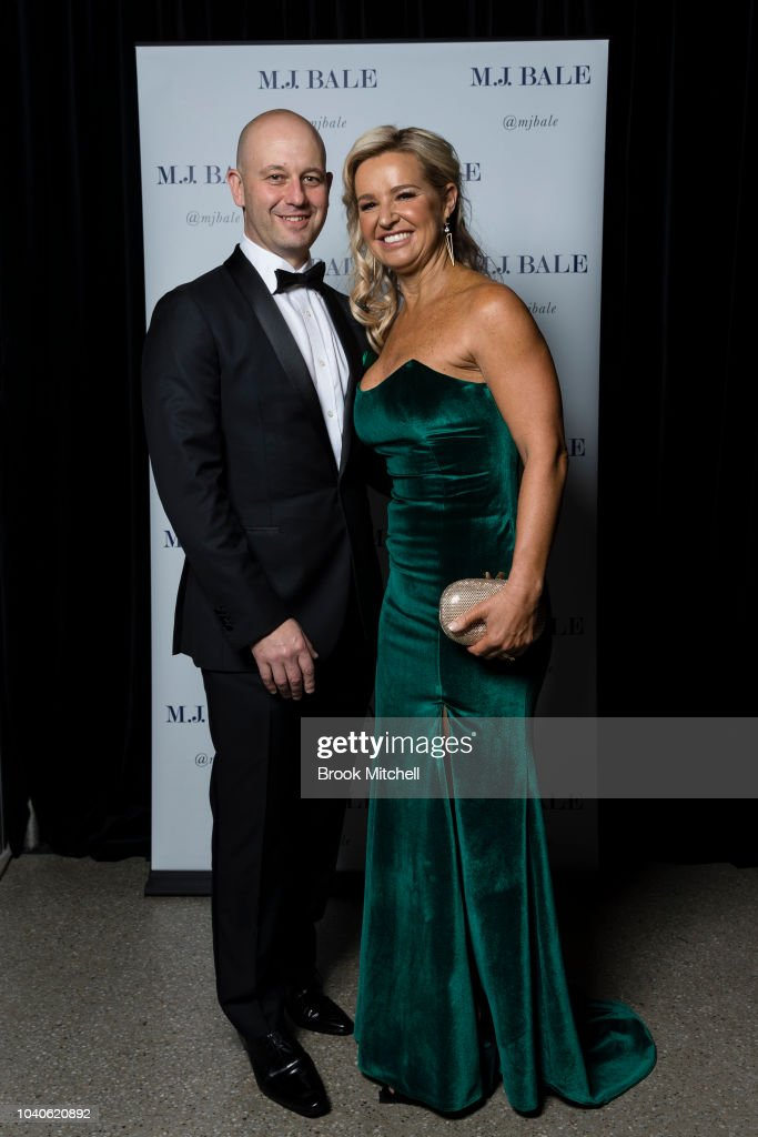 Todd Greenberg, with wife Lisa, wears M J  Bale for the 2018 Dally M