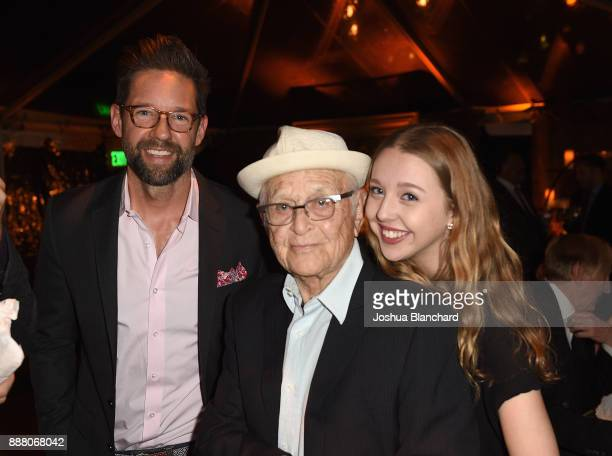 Todd Grinell Normal Lear and Lily Rosenthal attend Norman Lear's 95th Birthday Celebration on December 7 2017 in Los Angeles California