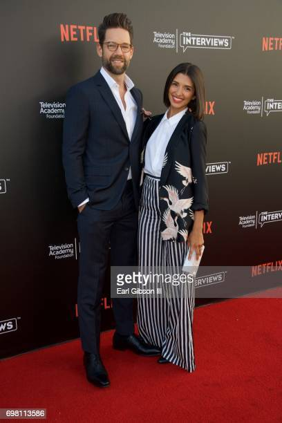 Todd Grinnell and India de Beaufort attend the Television Academy Foundation And Netflix Presents The Power Of TV: A Conversation With Norman Lear...