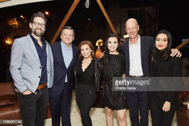 Todd Grinnell Netflix Chief Content Officer Ted Sarandos Justina Machado Isabella Gomez guest and Ariela Barer attend Netflix 2019 Nominees Toast at...