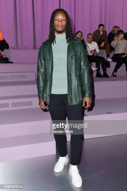 Todd Gurley attends the Boss fashion show on February 23, 2020 in Milan, Italy.