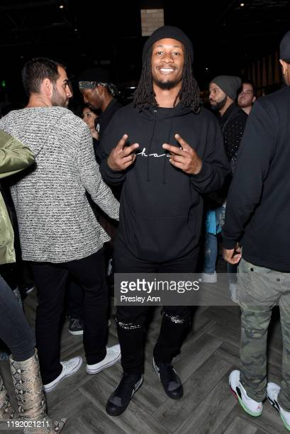 Todd Gurley attends Upscale Sports Lounge 3rd Base Celebrates its Grand Opening at 3rd Base on December 04, 2019 in Los Angeles, California.