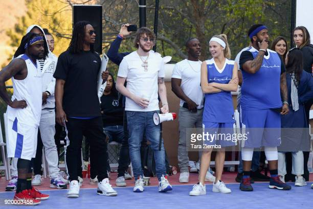 Todd Gurley Murda Beatz Josie Conseco and Kenny Hamilton attend ChaCha The Wave And Jamie Foxx Foundation's 1st Annual Charity Celebrity Basketball...