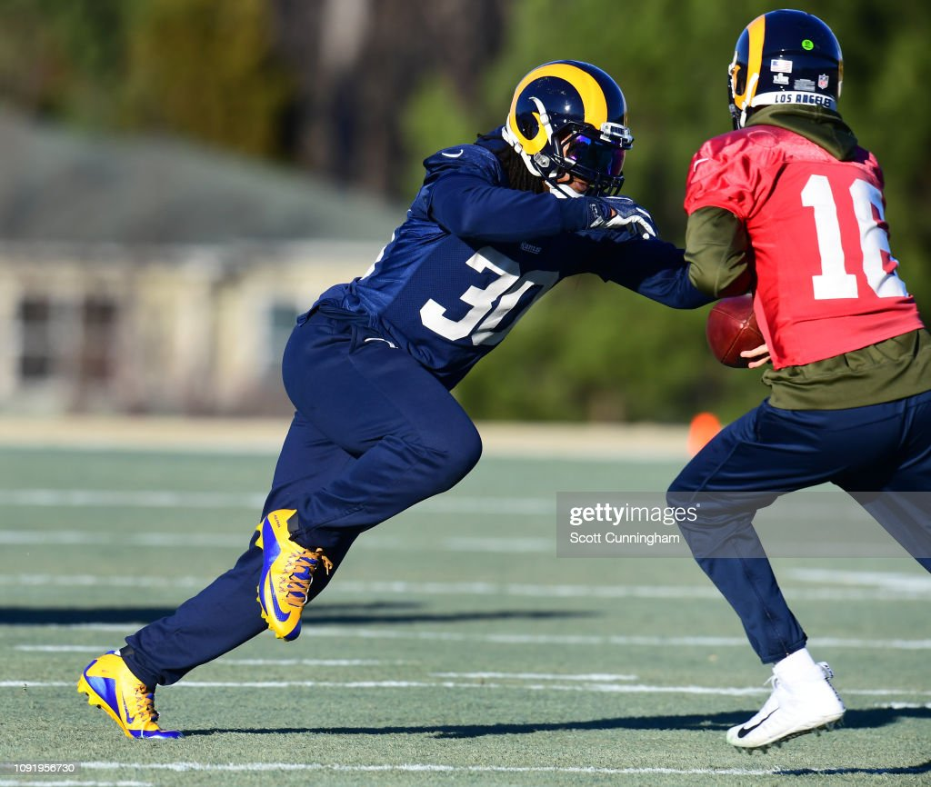 Super Bowl LIII - Los Angeles Rams Practice : News Photo