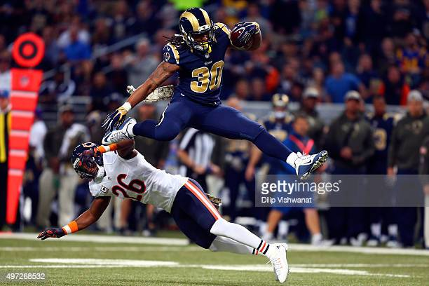 Todd Gurley Of The St Louis Rams Leaps Over Antrel Rolle Chicago Bears As